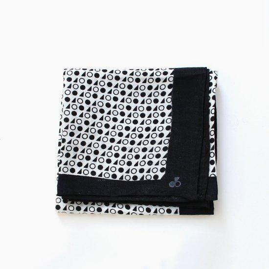 Atelier d'antan | シルクスカーフ〈 Rothko 〉Black A Pattern | A232182FM350