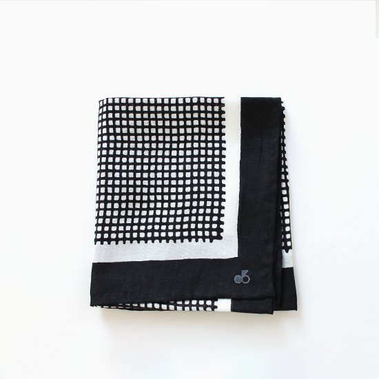 Atelier d'antan | シルクスカーフ〈 Rothko 〉Black C Pattern | A232182FM350