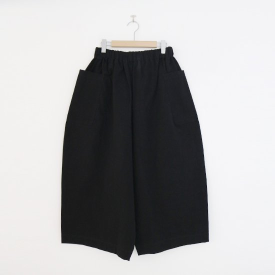 Atelier d'antan | サイドポケットワイドパンツ〈 Perriere 〉Black | A232192PP392
