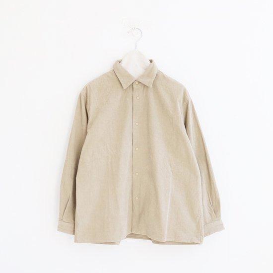 Yaeca | メンズコーデュロイコンフォートシャツ Beige | F052192TS106