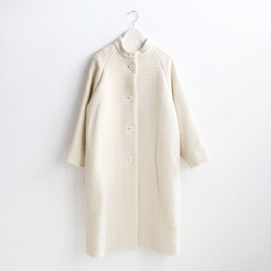 Atelier d'antan | ウールスタンドカラーコート〈 Eluard 〉White | A232192TC374