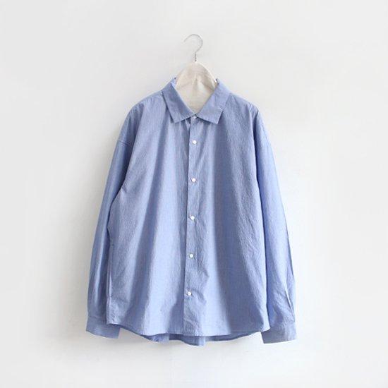 Yaeca | コンフォートシャツエクストラワイド Blue Stripe | F052192TS111