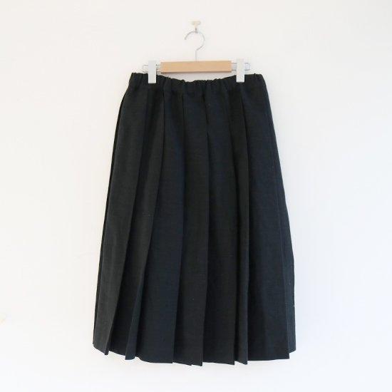 Charpentier de Vaisseau | リネンプリーツスカート〈 Belle 〉Black | C003201PS384