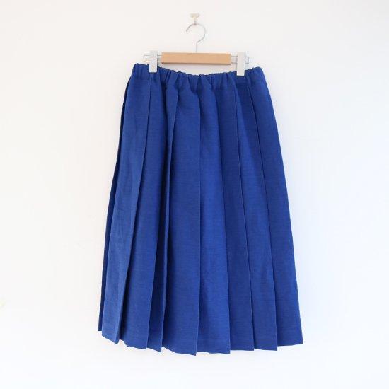 Charpentier de Vaisseau | リネンプリーツスカート〈 Belle 〉Blue | C003201PS384
