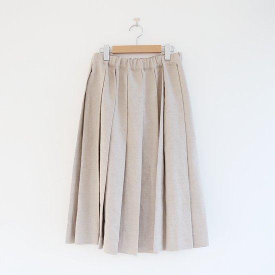 Charpentier de Vaisseau | リネンプリーツスカート〈 Belle 〉Natural | C003201PS384