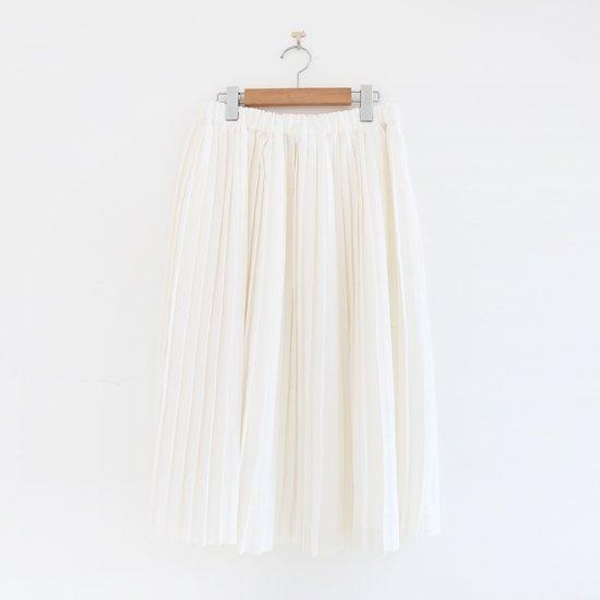 Charpentier de Vaisseau | リネンナロープリーツスカート〈 Brenda 〉White | C003201PS385