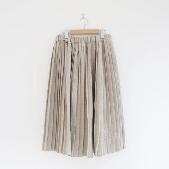 Charpentier de Vaisseau | リネンナロープリーツスカート〈 Brenda 〉Natural | C003201PS385