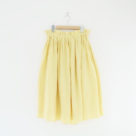 Atelier d'antan | リネンギャザースカート〈 Nordal 〉Yellow | A232201PS403