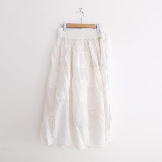 Aodress | パッチワークエプロンスカート White | D115201PS006
