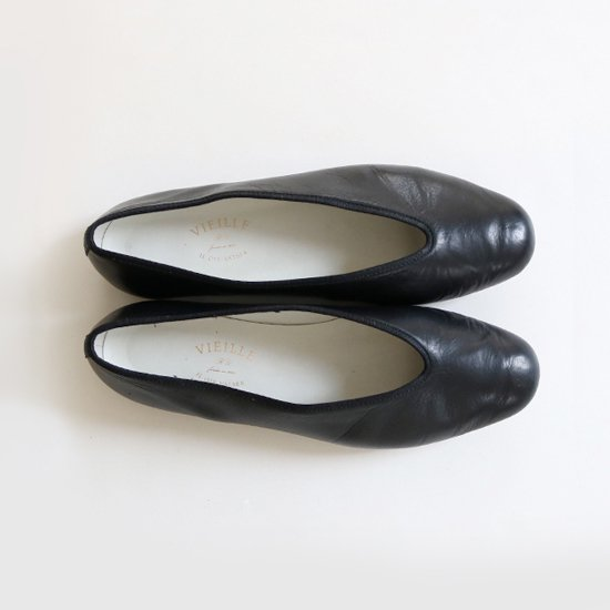 VIEILLE | カーフスキンパンプス ( Viole ) Black | B004181SS04