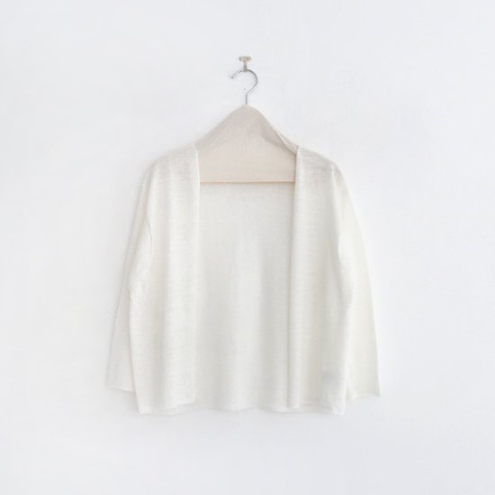 Atelier d'antan | リネンニットカーディガン〈 Lely 〉White | A232191TK372