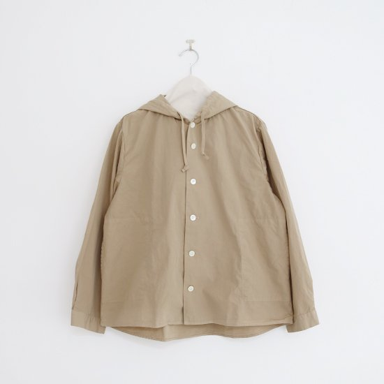 Charpentier de Vaisseau | フーデッドシャツ〈 Stefany 〉Beige | C003201TS361