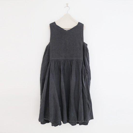 Ricorrrobe | ヘヴィーリネンスリーブレスドレス〈 q 〉Dark Grey | D111201TD023