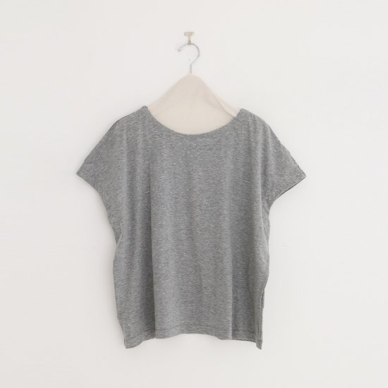 Atelier d'antan | フレンチスリーブTシャツ〈 Peel 〉Grey | A232201TT429