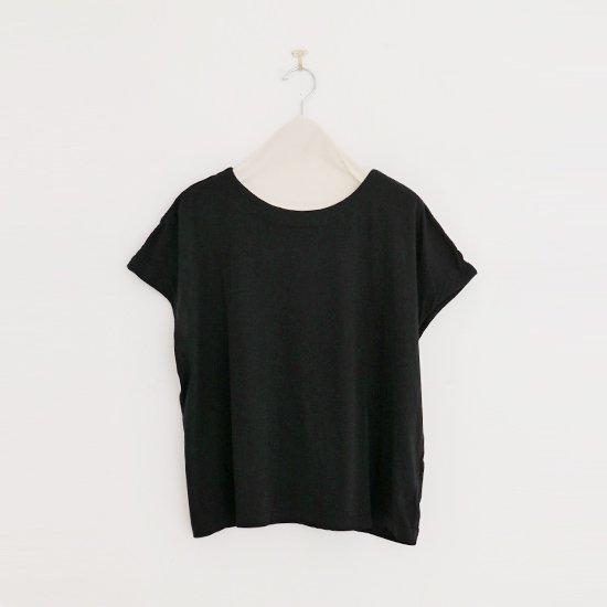 Atelier d'antan | フレンチスリーブTシャツ〈 Peel 〉Black | A232201TT429