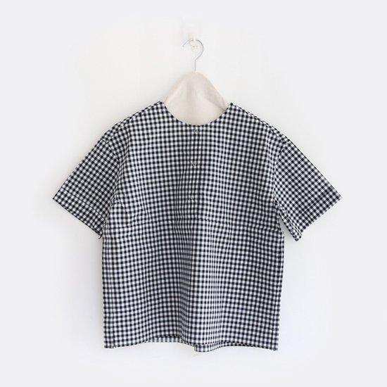 Charpentier de Vaisseau | 3リングボタンシャツ〈 Selma 〉White x Black Check | C003171TS180