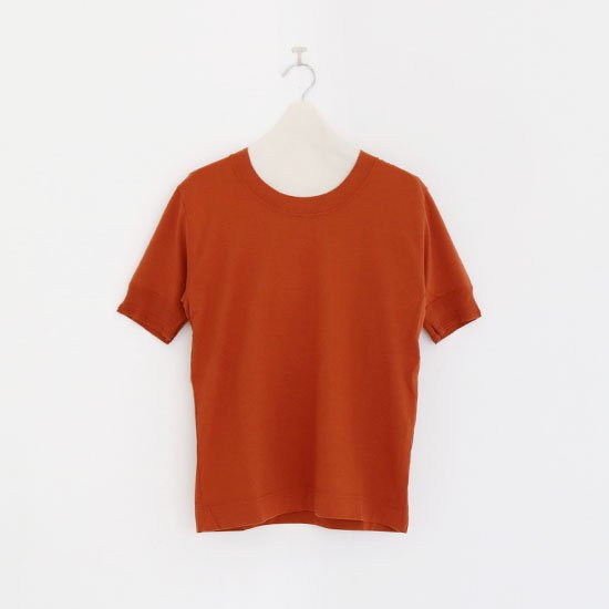 Charpentier de Vaisseau | UネックリブショートスリーブTシャツ〈 Jeff 〉Brown | C003191TT325