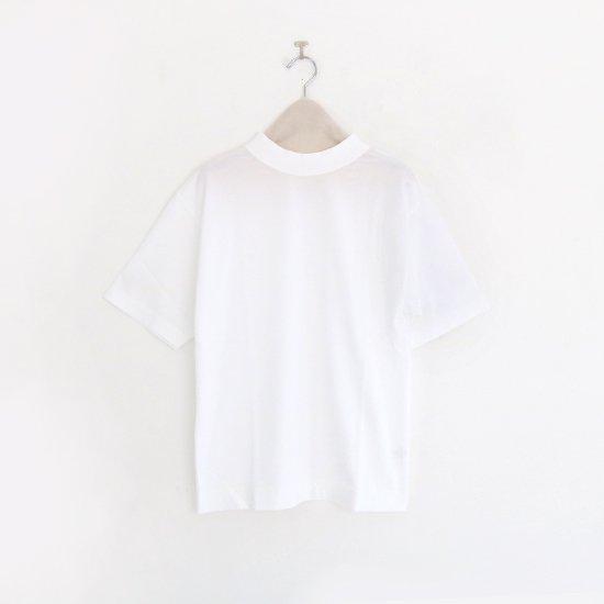 Charpentier de Vaisseau | モックネックリブショートスリーブTシャツ〈 Jolly 〉White | C003191TT326