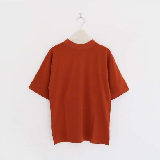 Charpentier de Vaisseau | モックネックリブショートスリーブTシャツ〈 Jolly 〉Brown | C003191TT326