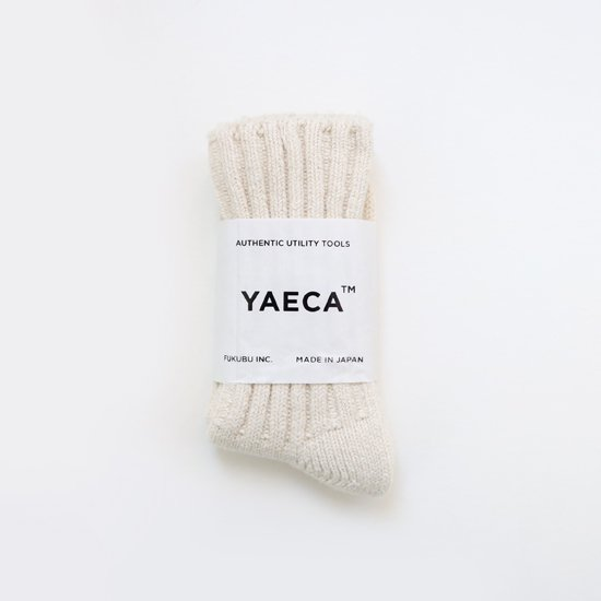 YAECA   シルクコットンリブソックス White   F052202FS157