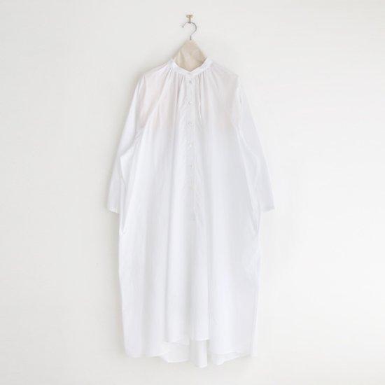 Atelier d'antan | ライトコットンギャザーシャツドレス 〈 Cuvier 〉 White | A232211TD502