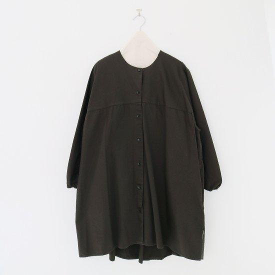 Atelier d'antan | ガーメントダイノーカラーロングシャツ〈 Seton 〉Olive | A232202TS468
