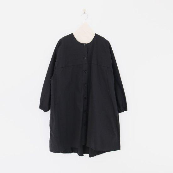 Atelier d'antan | ガーメントダイノーカラーロングシャツ〈 Seton 〉Black | A232202TS468