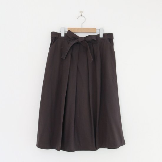 Atelier d'antan | ガーメントダイスカート〈 Certeau 〉Brown | A232202PS474