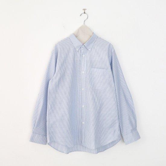 Charpentier de Vaisseau | ボタンダウンシャツ〈 Sant 〉White × Light Blue Stripe | C003202TS413