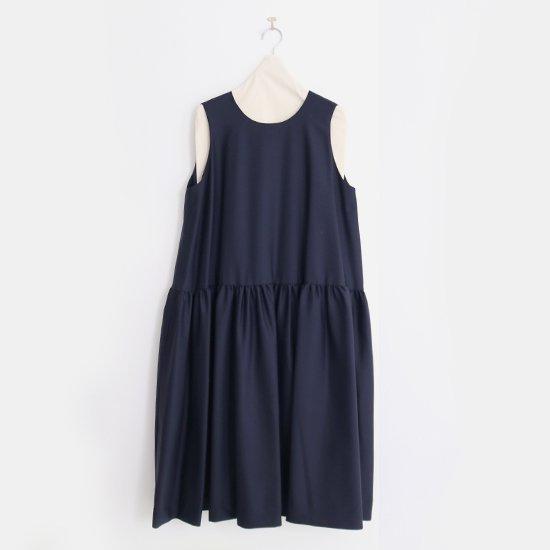 Atelier d'antan | ウールギャバノースリーブドレス〈 Sorel 〉Navy | A232202TD457