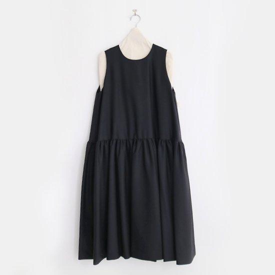 Atelier d'antan | ウールギャバノースリーブドレス〈 Sorel 〉Black | A232202TD457