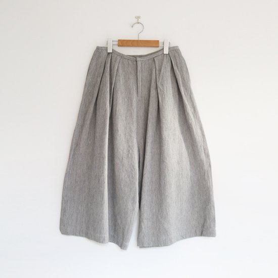 ゴーシュ | リネンコットンカルゼワイドパンツ Light Grey | F019202PP413