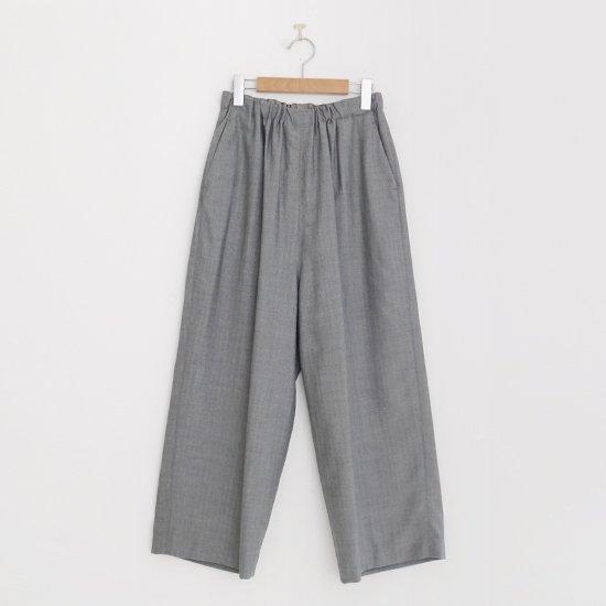 ゴーシュ | クリアウールへリンボンワイドパンツ Grey | F019202PP420