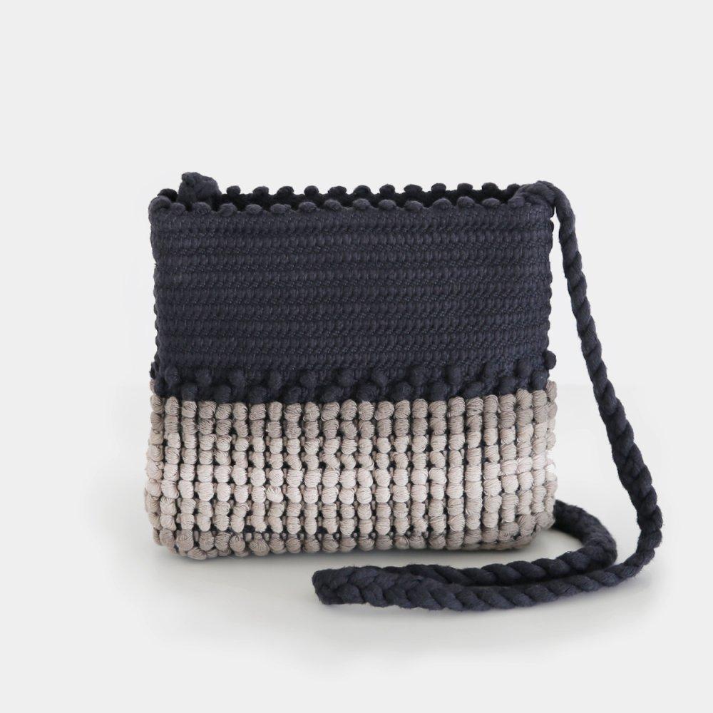 Antonello Tedde | スモールバッグ 〈 Nulvi 〉Black × Natural | F046202BB017