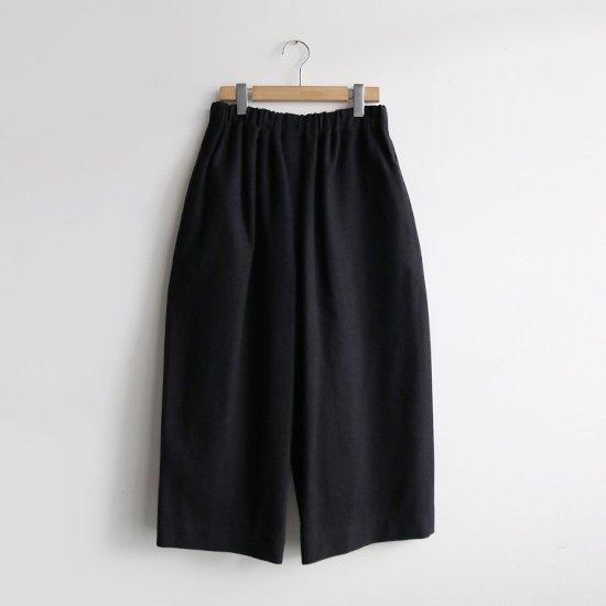 Atelier d'antan | ローデンクロスワイドパンツ〈 Ruff 〉Black | A232202PP467