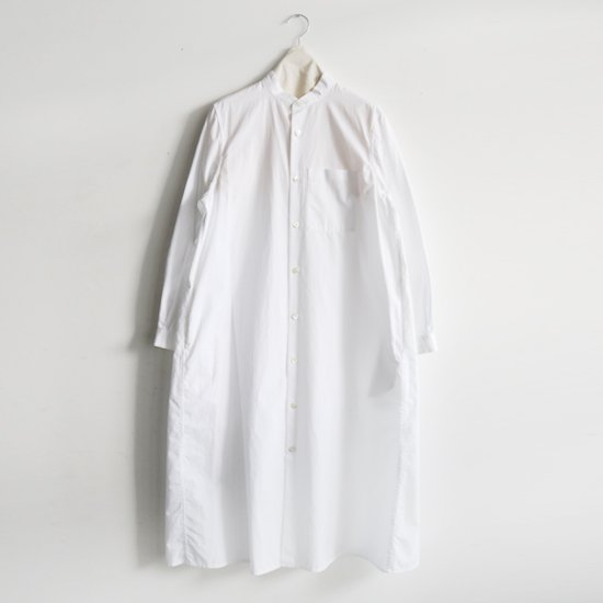 Charpentier de Vaisseau | スタンドカラーシャツワンピース〈 Dolly 〉White | C003191TD308