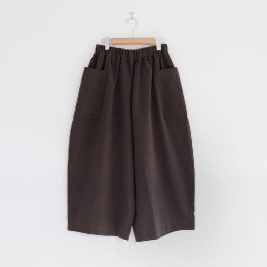 Atelier d'antan | サイドポケットワイドパンツ〈 Perriere 〉Brown | A232192PP392