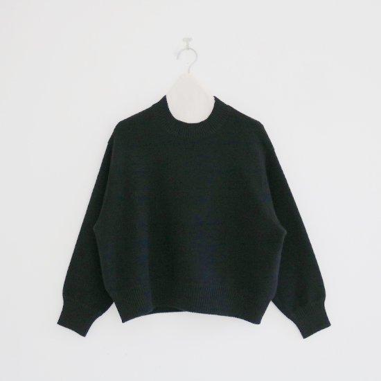 Atelier d'antan | クルーネックニット〈 Bayle 〉Black | A232202TK477