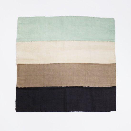 Aeshaane   シルクスカーフ Green × Brown   D082202FM018