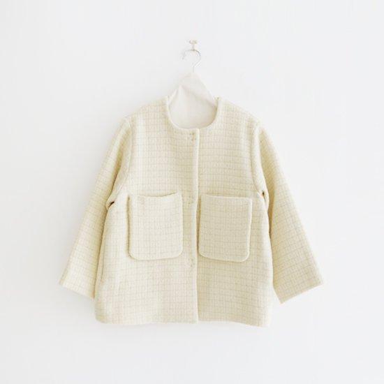 Atelier d'antan | ウールノーカラージャケット〈 Petri 〉White | A232202TJ443