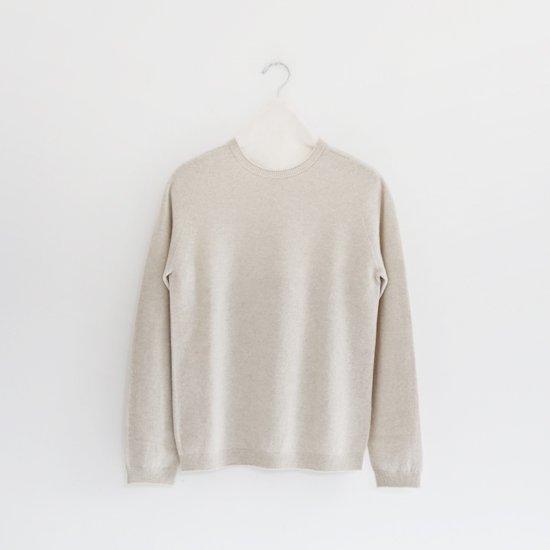 糸衣 | カシミヤ25クルーネックニット〈 Anzu 〉Light Grey | E009192TK403