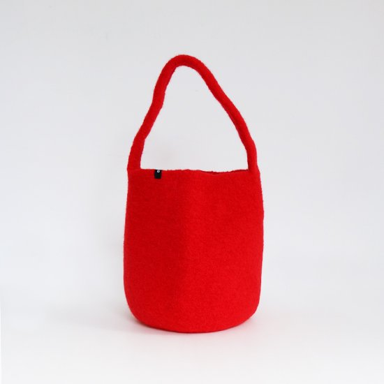 Cecilie Telle | ウールフェルトスモールバケツバッグ Red | D109202BB004