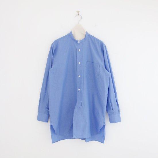 <img class='new_mark_img1' src='https://img.shop-pro.jp/img/new/icons3.gif' style='border:none;display:inline;margin:0px;padding:0px;width:auto;' />Comoli | バンドカラーシャツ Light Blue | F035211TS141
