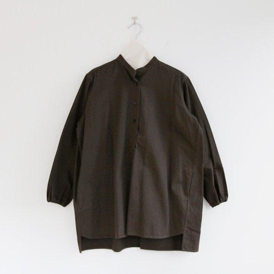 Atelier d'antan | ガーメントダイスタンドカラーシャツ〈 Appel 〉Olive | A232202TS469