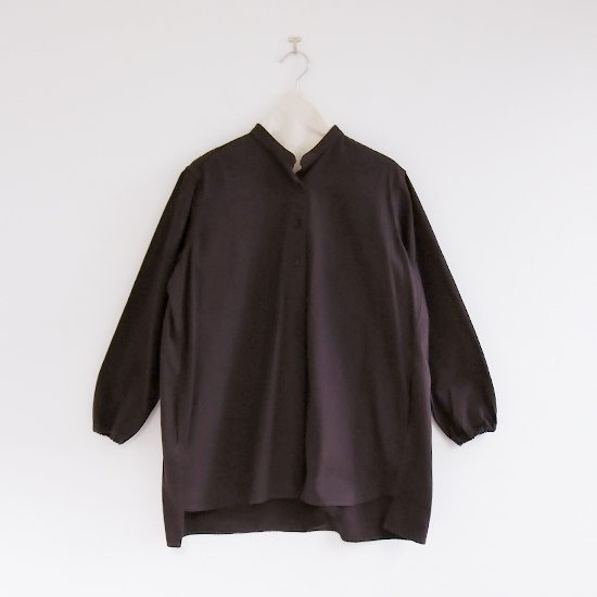 Atelier d'antan | ガーメントダイスタンドカラーシャツ〈 Appel 〉Brown | A232202TS469
