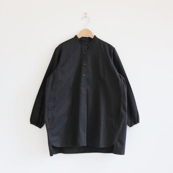 Atelier d'antan | ガーメントダイスタンドカラーシャツ〈 Appel 〉Black | A232202TS469