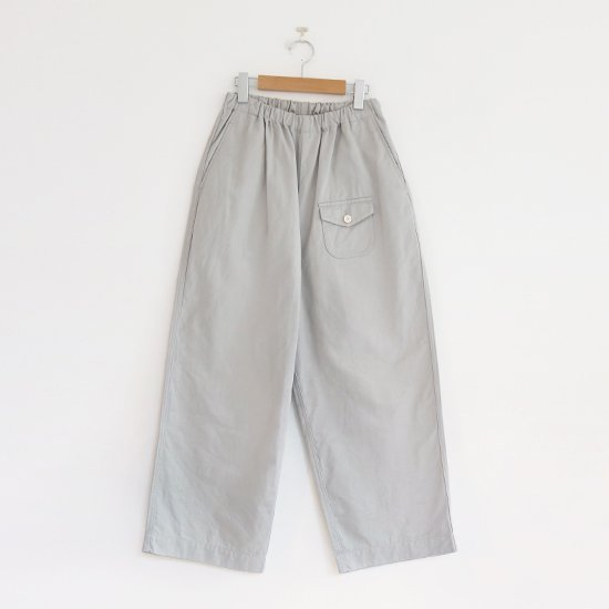 ゴーシュ | カツラギワイドパンツ Light Grey | F019211PP442