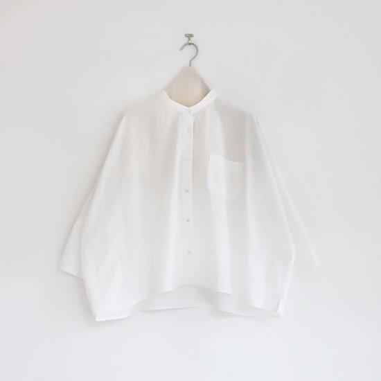 Style+confort | バンドカラーシャツ White | F007211TS177