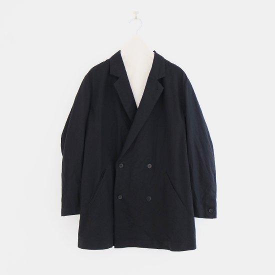 ゴーシュ   セミツイストツイルロングジャケット Black   F019211TC436