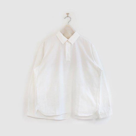 Yaeca | メンズコットンプルオーバーシャツ  White | F052211TS140